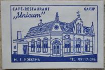 Suikerzakje Café Unicum